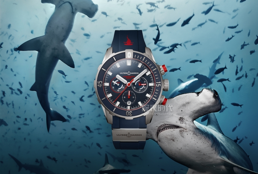 Light version-DIVER CHRONOGRAPH HAMMERHEAD SHARK